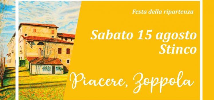Sabato 15 agosto il 10° Piacere, Zoppola!